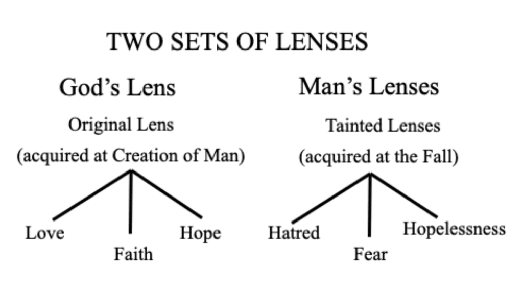 two sets of lenses